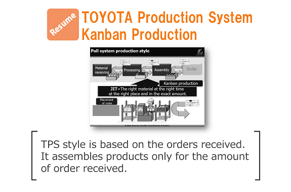 resume download toyota production system kanban production 改善と