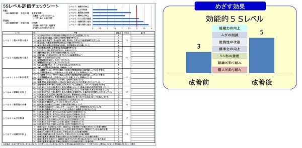 効能的5S評価基準とグラフ