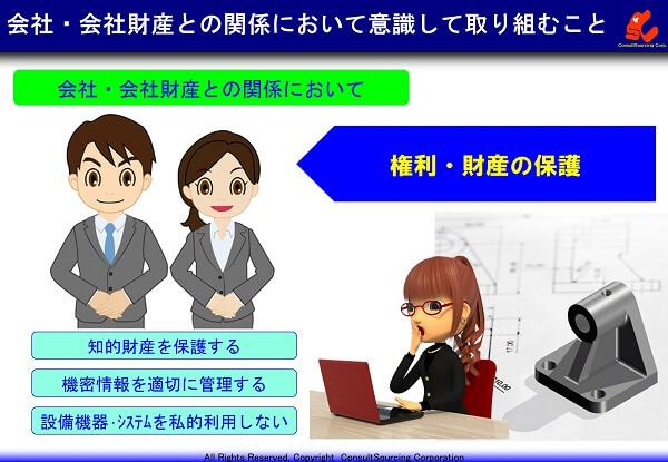 会社の権利と財産の保護の説明事例