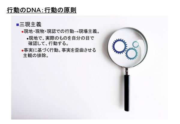 行動のDNAのイメージ