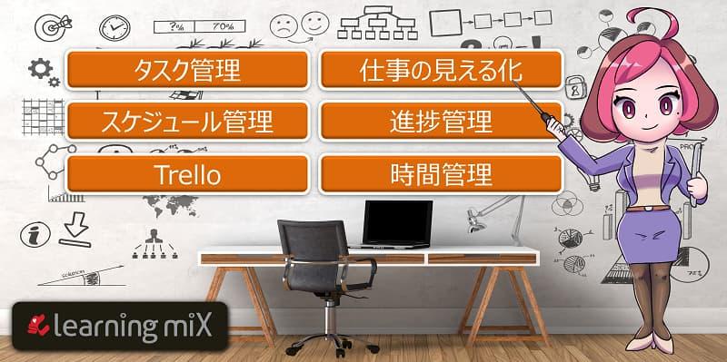 タスク管理と時間管理の動画学習の項目イメージ